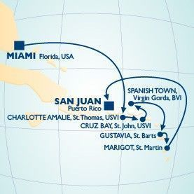 8 Night Christmas Voyage - Itinerary Map