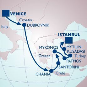 11 NIGHT ADRIATIC & GREEK ISLES VOYAGE - Itinerary Map