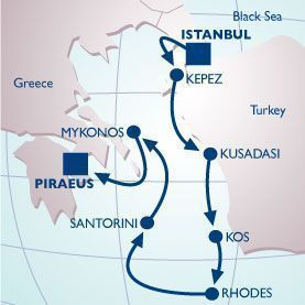 7 NIGHT GREEK ISLES VOYAGE - Itinerary Map