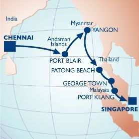 13 NIGHT THE SPICE ROUTE II VOYAGE - Itinerary Map