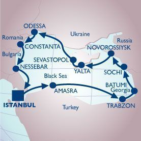12 NIGHT BLACK SEA VOYAGE - Itinerary Map