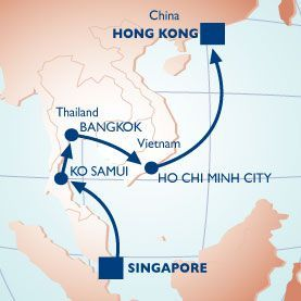 10 NIGHT THAILAND & VIETNAM VOYAGE - Itinerary Map