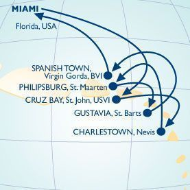 10 NIGHT TURKEY DAY & WEST INDIES VOYAGE - Itinerary Map
