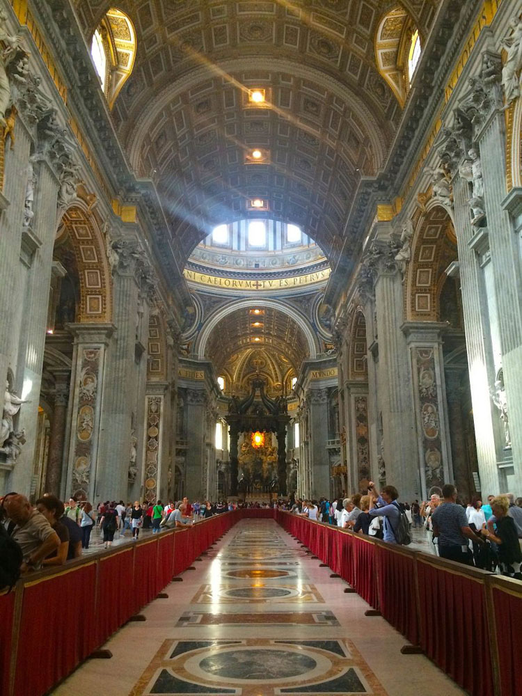Inside St. Peter's Basilica in Rome