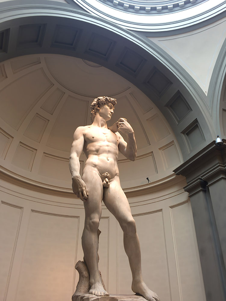 Michelangelo's The David statue in Florence.