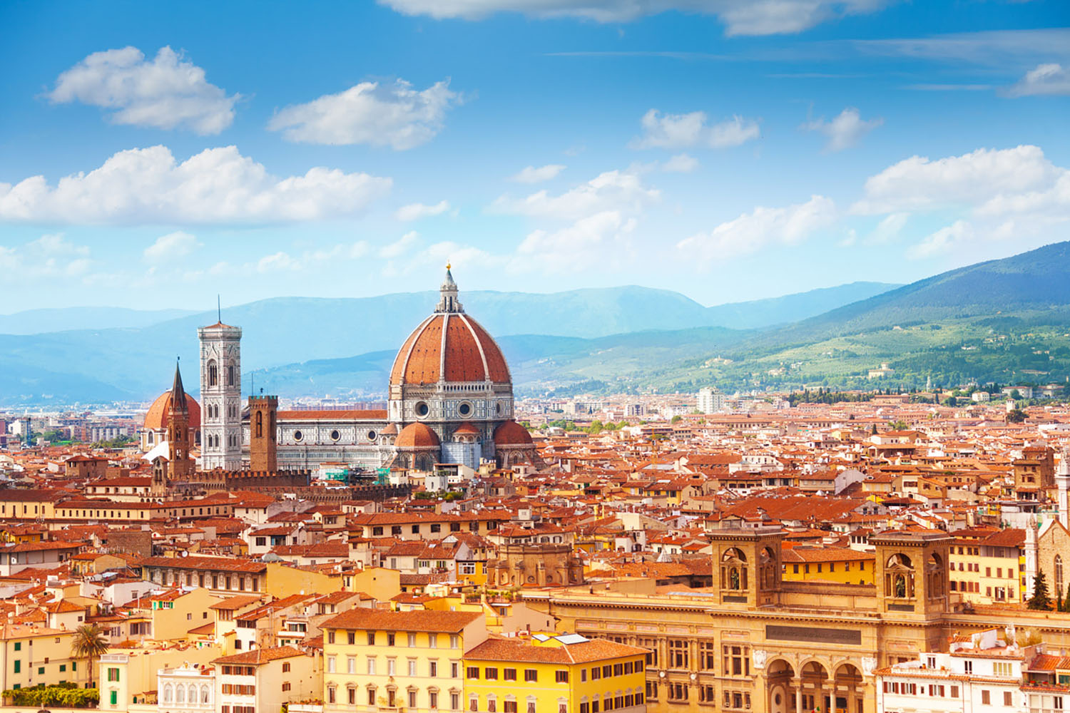 A skyline view of Florence, Italy.