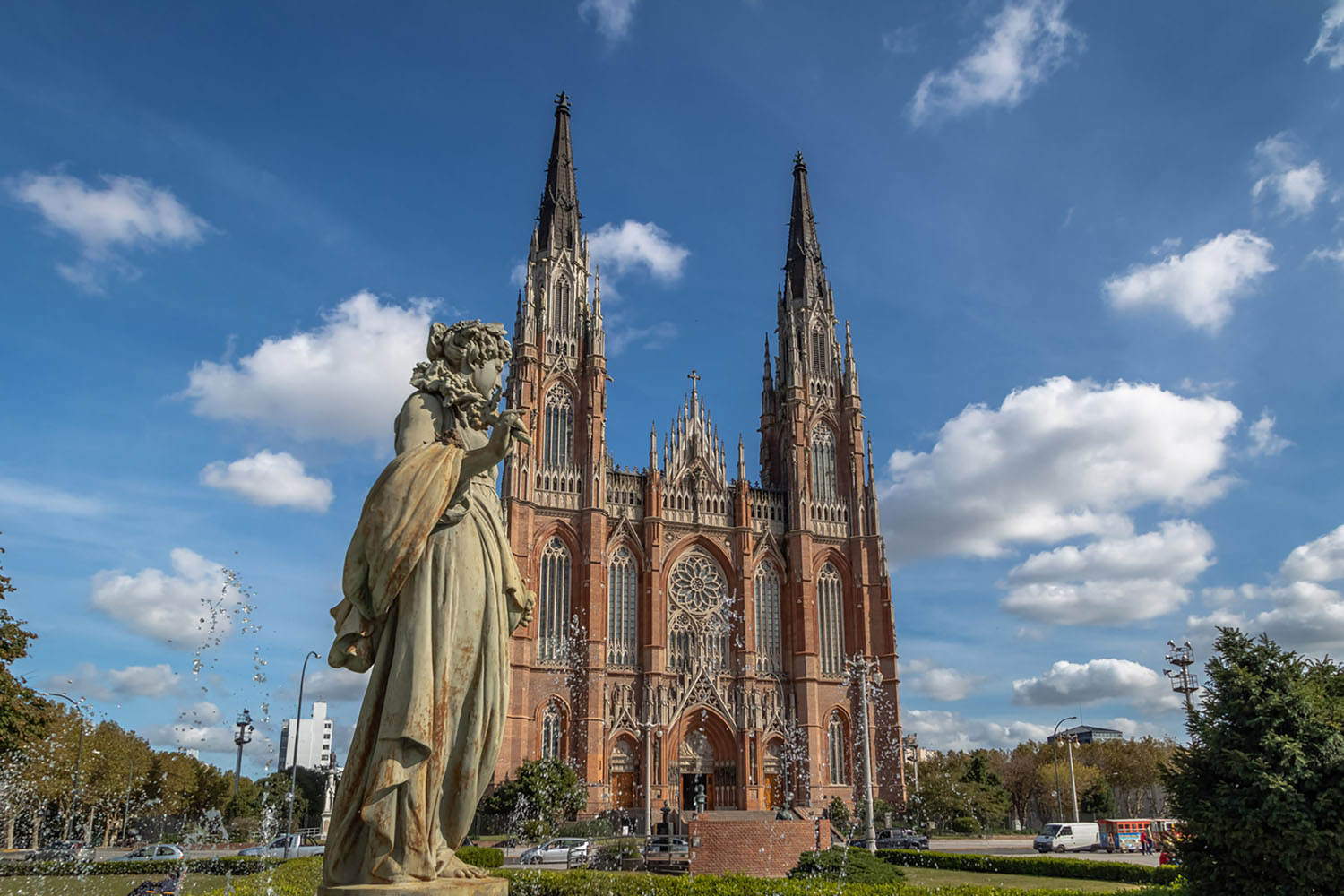Cathedral of La Plata in Argentina on a sunny day