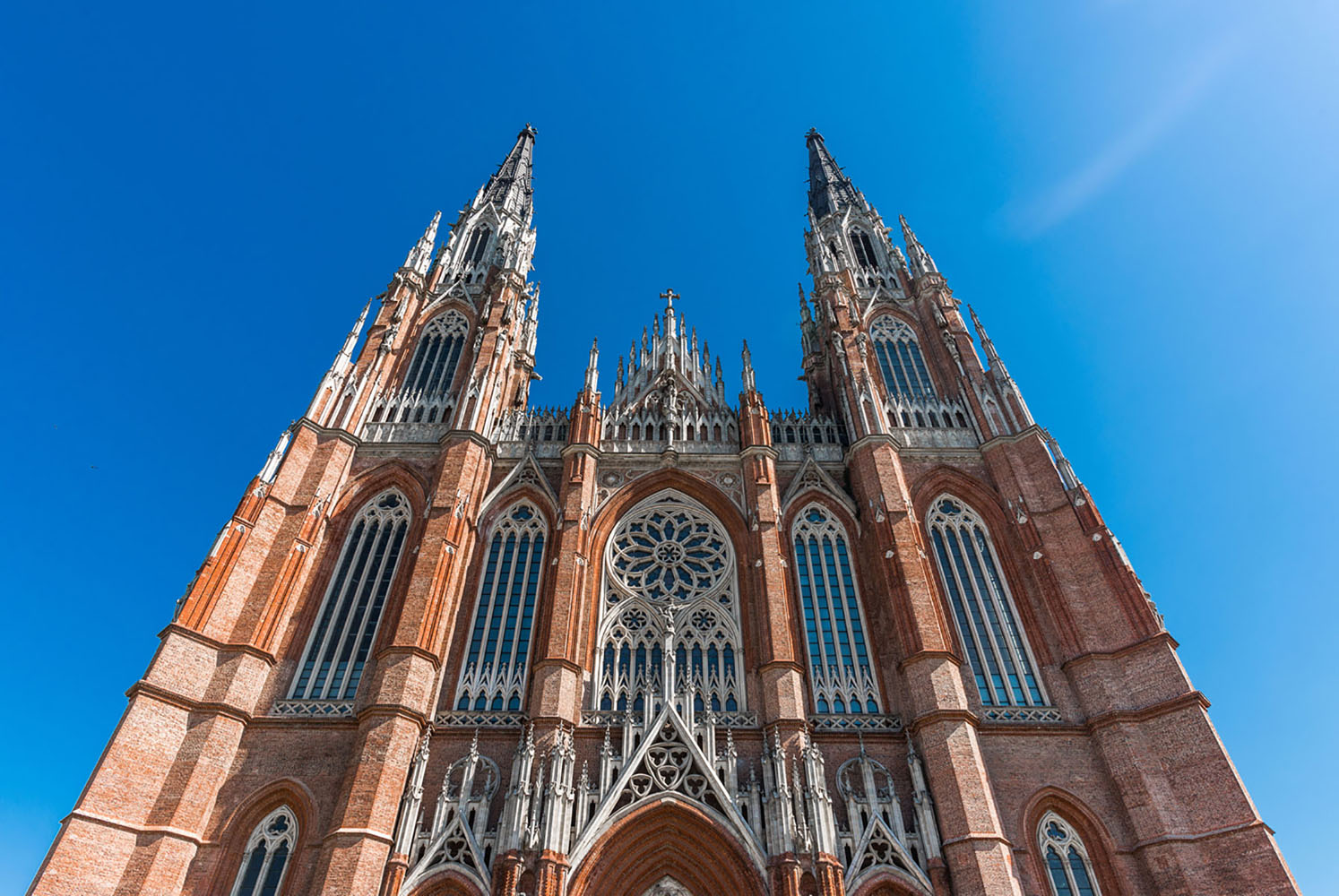a look at Cathedral of La Plata in Argentina that emphasizes its height