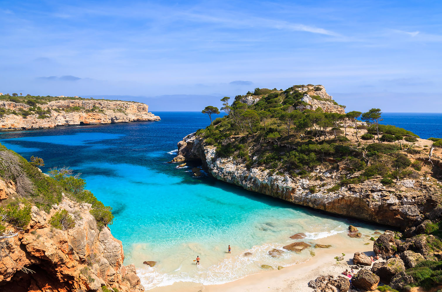 A beach on the island of Mallorca in Spain.