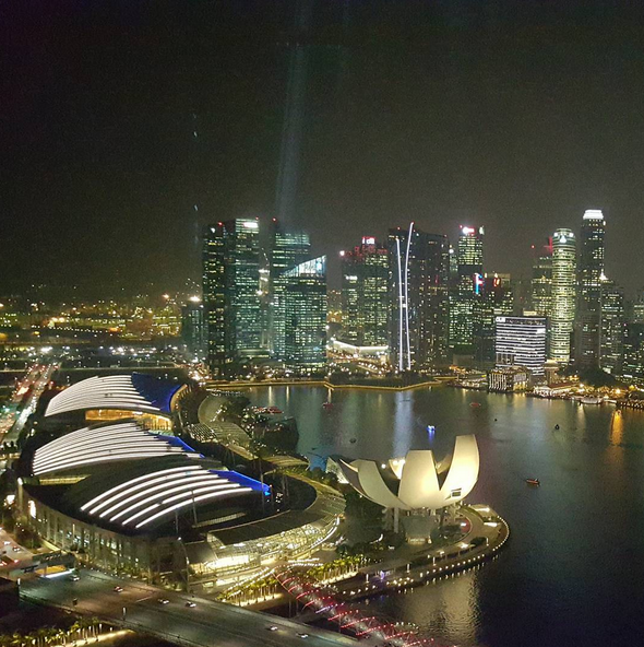 Singapore at night.