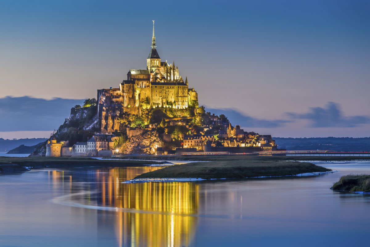 Mont Saint-Michel in Normandy, France, one of the best castles in the world
