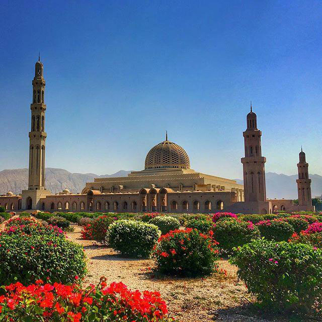The Grand Mosque in Muscat Oman