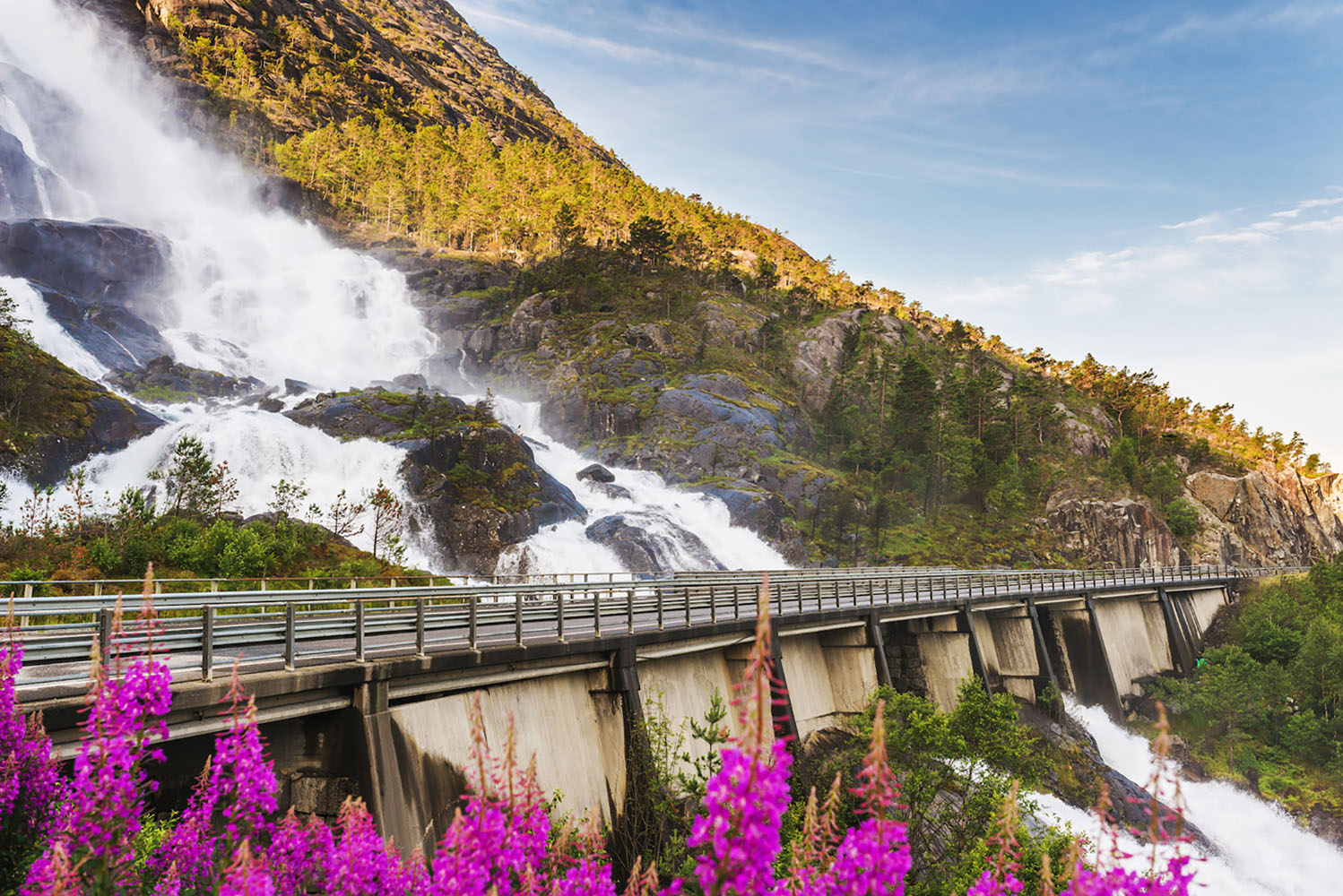 The waterfalls, cliffs, and glaciers of the Norwegian Fjords