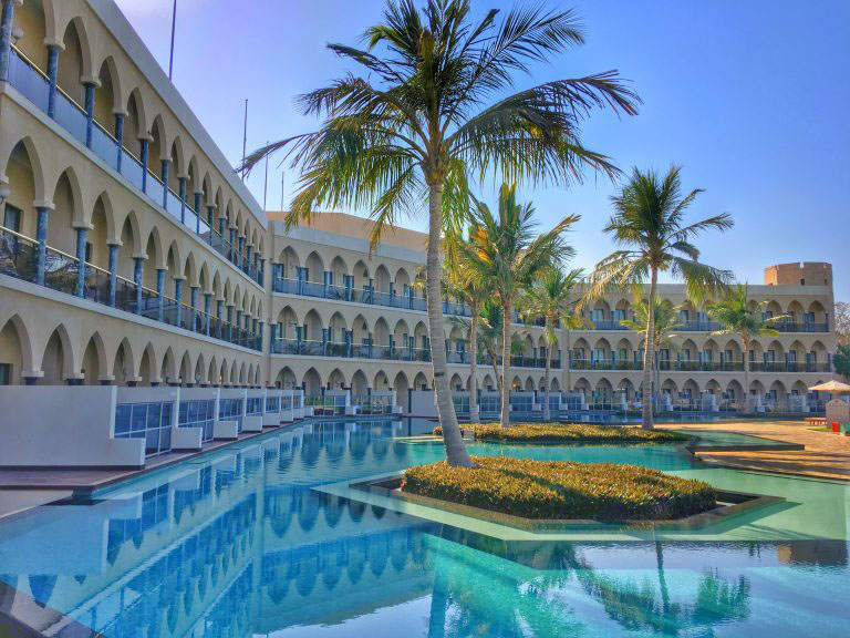 The AL Bustan Palace in Muscat Oman