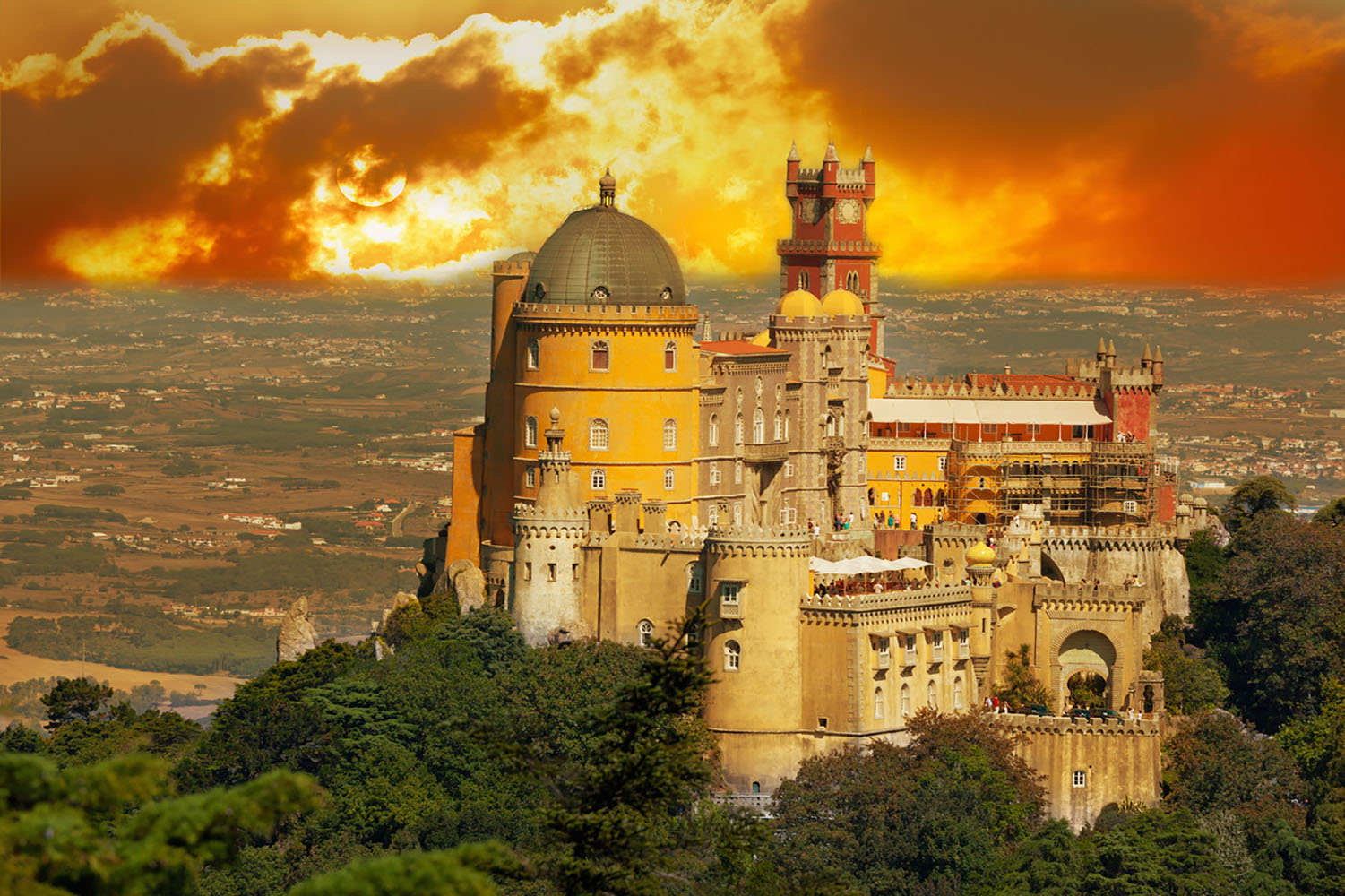 Sintra is a popular day trip destination thanks to a few memorable landmarks, including the most iconic is Pena Palace.