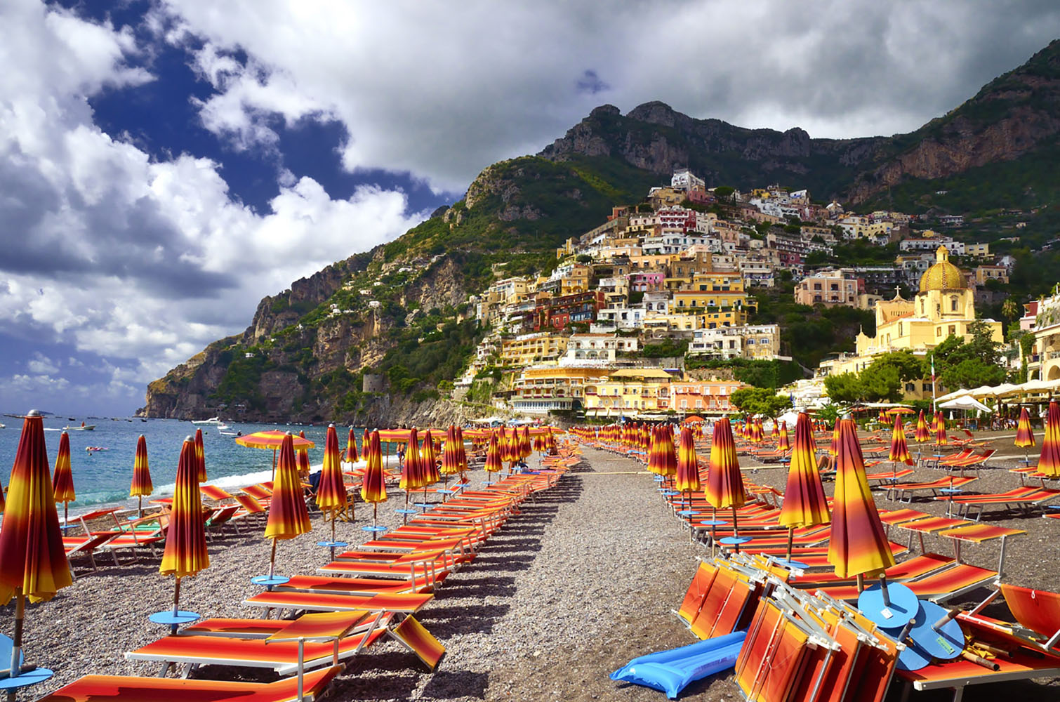 Though smaller than Amalfi, Positano is a trendier and more popular stop along the Amalfi Coast.