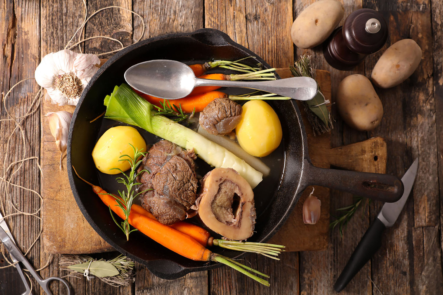 One of the ultimate comfort food dishes for the French, pot-au-feu is a hearty French beef stew perfect for you!