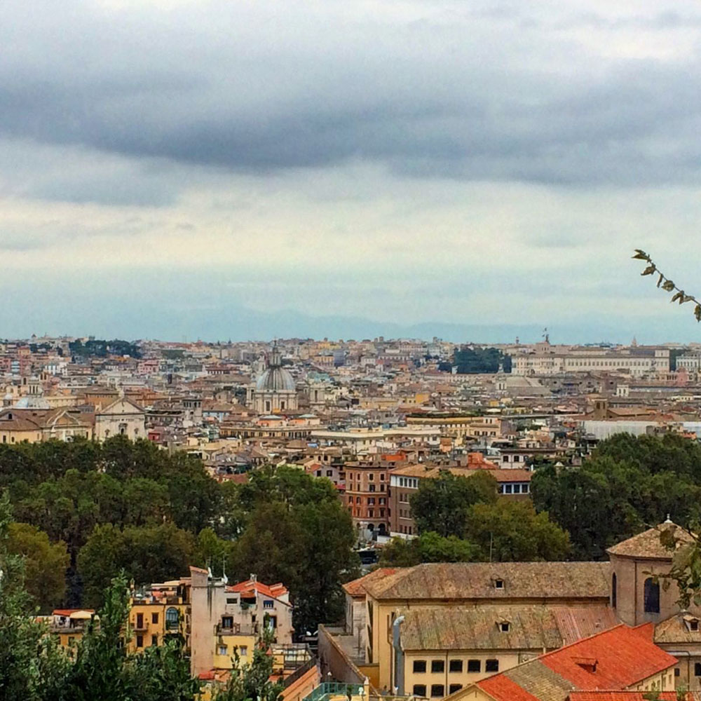 The view from Giancolo Hill in Rome