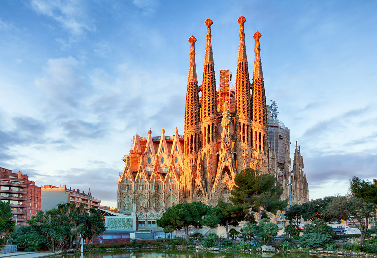 A must-visit in Spain is the stunning Sagrada Familia.