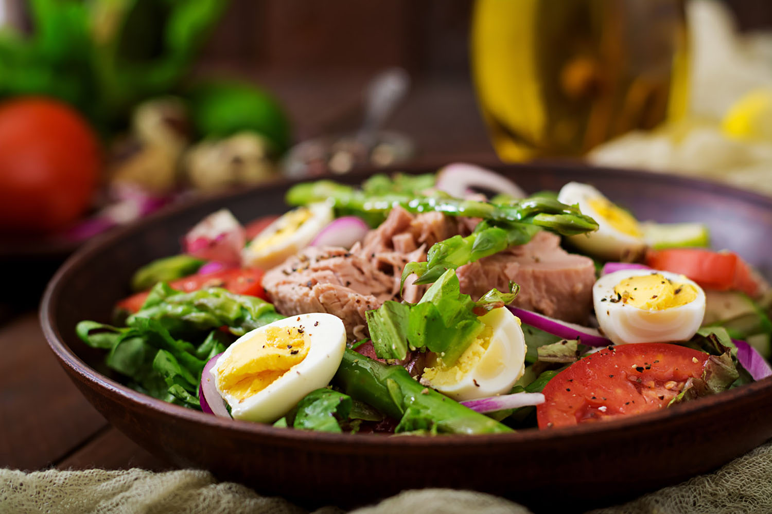 A fantastic lunchtime meal, Salade Niçoise was invented in Nice, France.