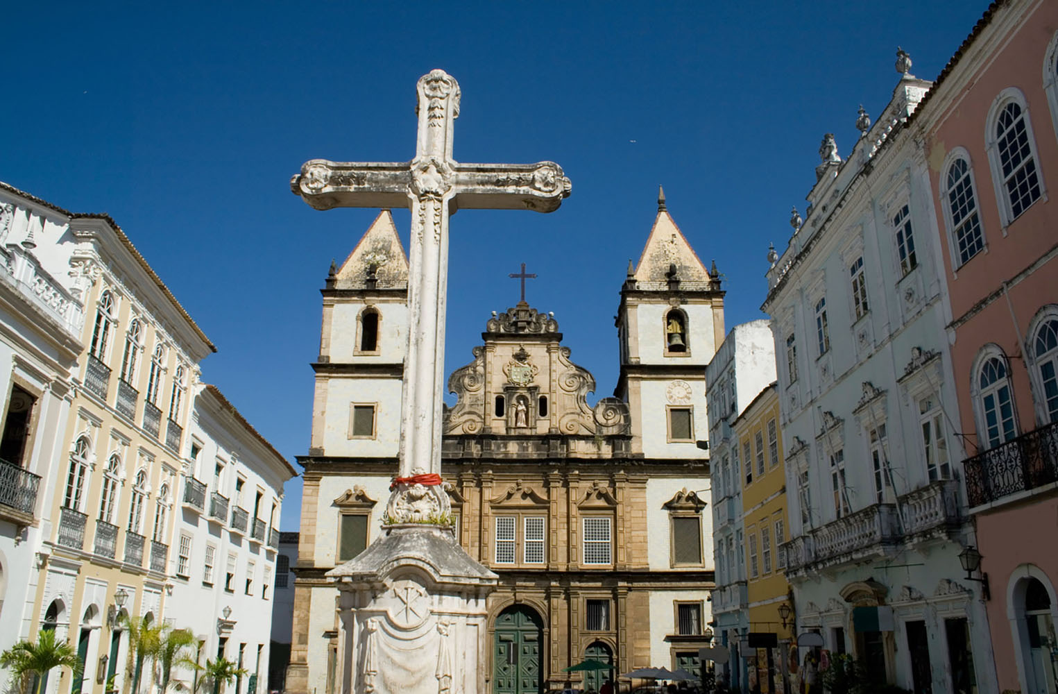 The modest exterior of São Francisco Church and Convent in Salvador De Bahia
