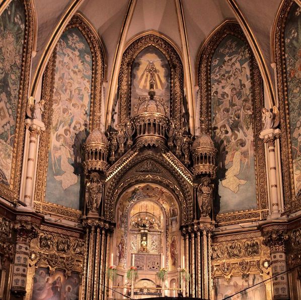 Interior of Montserrat Spain