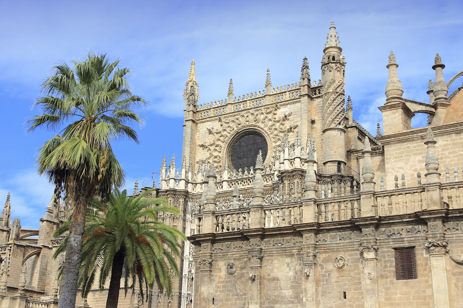 Seville Cathedral's bell tower, La Giralda, is Seville's most famous landmark.