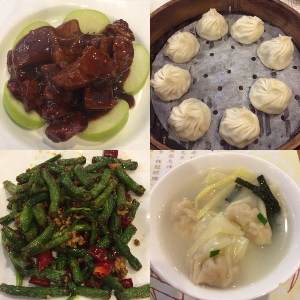 A variety of different delicious Shanghai dishes