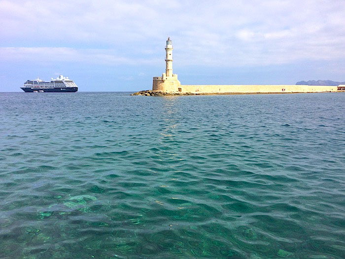 An iconic lighthouse in Chania Crete