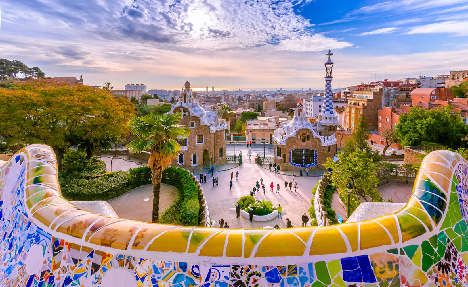 The view from Parc Guell in Barcelona.