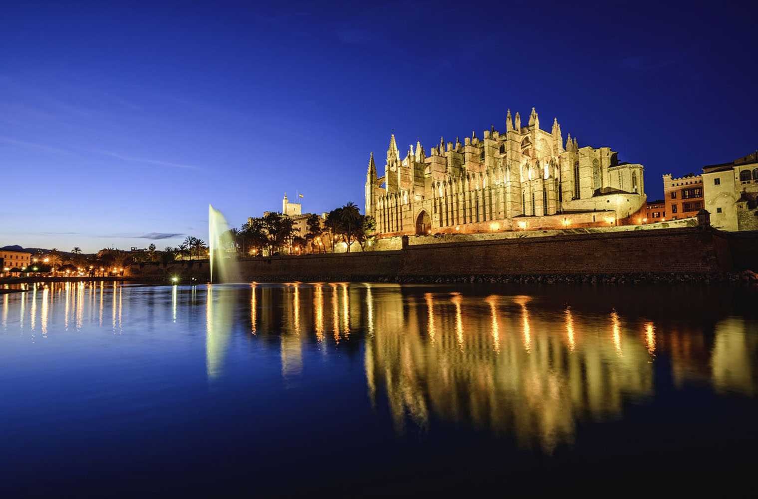 The cathedral in Palma de Mallorca, Spain.