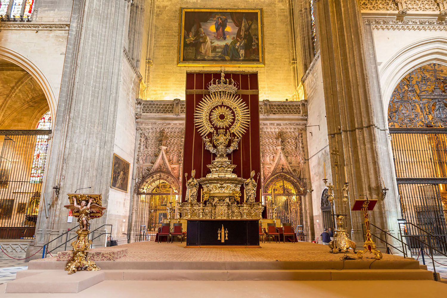The altar of the Seville Cathedral.