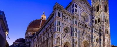 The Cathedral of Florence at night.
