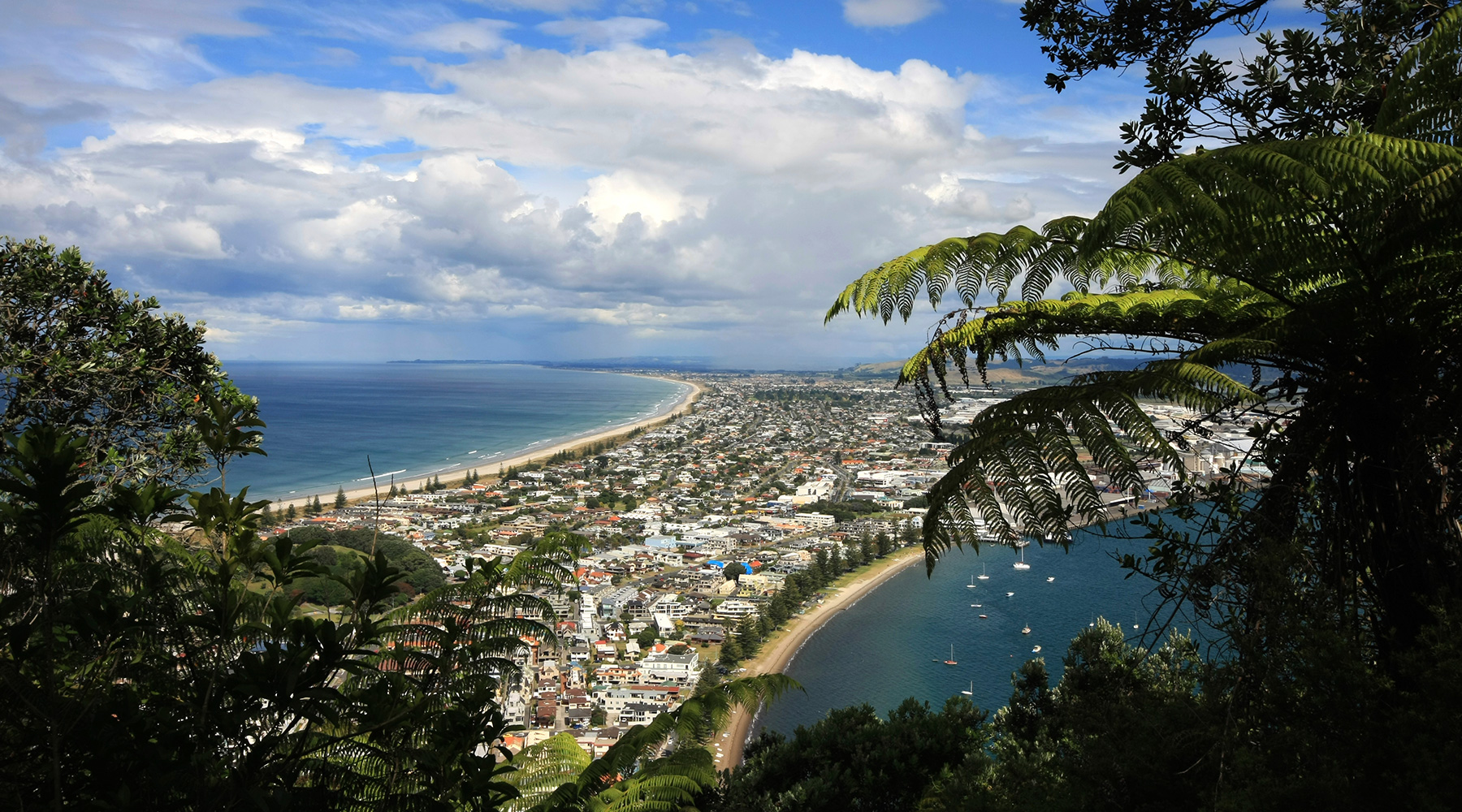 Biking the trails of Mount Maunganui in Tauranga will deliver amazing views.