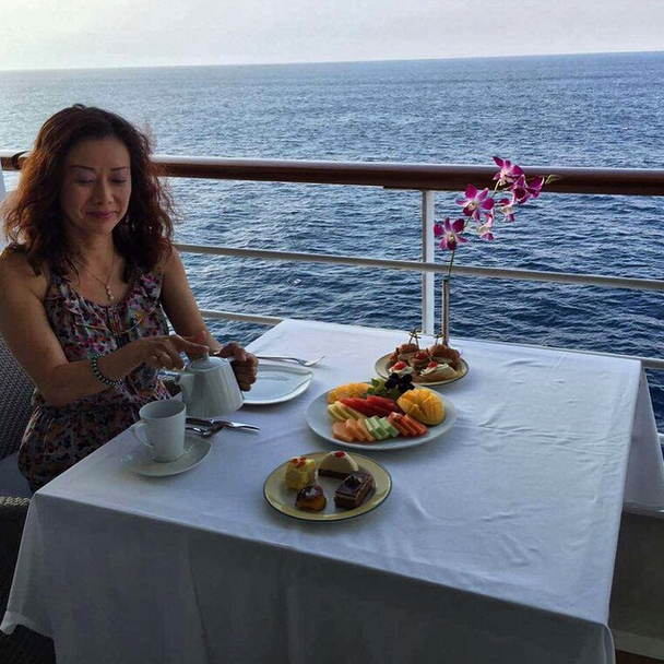 Ann Tran cruising the Bay of Bengal with Azamara
