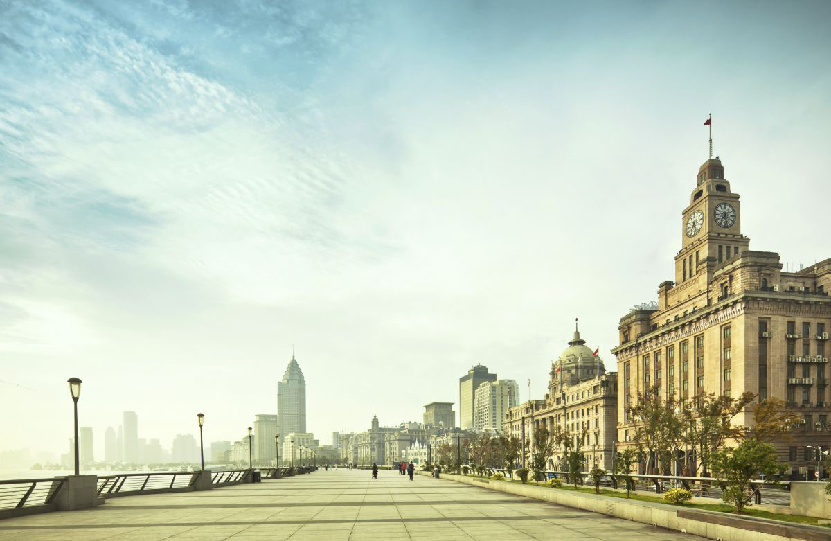 The Bund waterfront with incredible views of Shanghai
