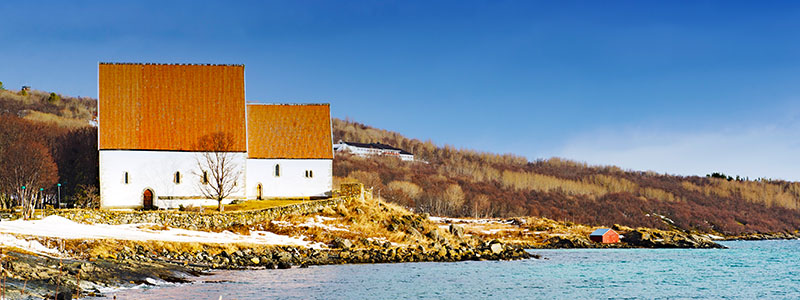 Trondenes Church in Harstad, Norway