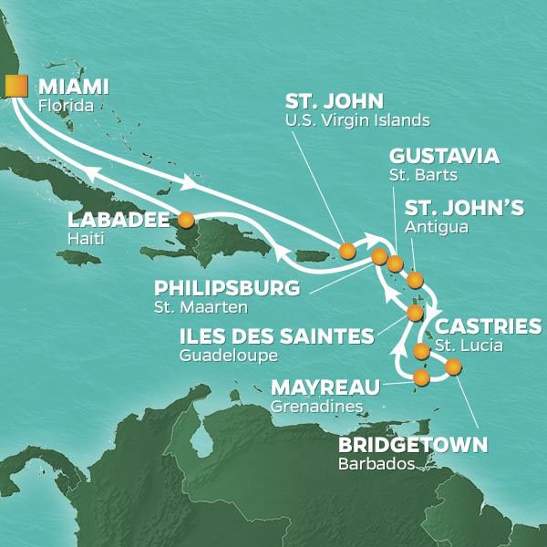 caribbean intensive map