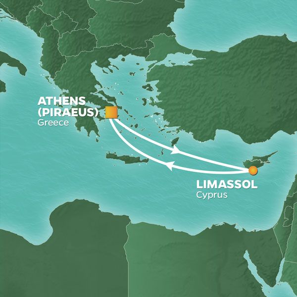 Detailed map of voyage