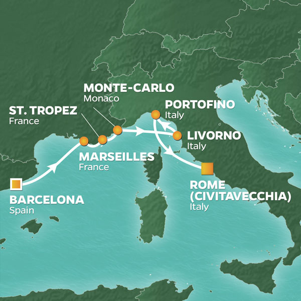 7 Night Spain France Italy Voyage 11 May 19