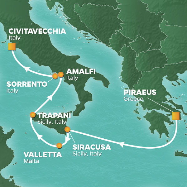 greece to rome map