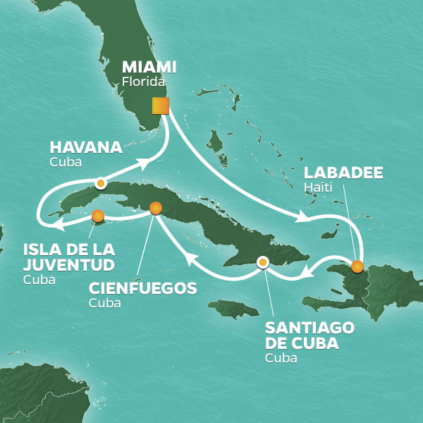 Round trip to Cuba from Miami