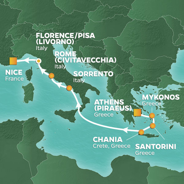 9-NIGHT GREECE & ITALY PURSUIT VOYAGE - 14-May-19