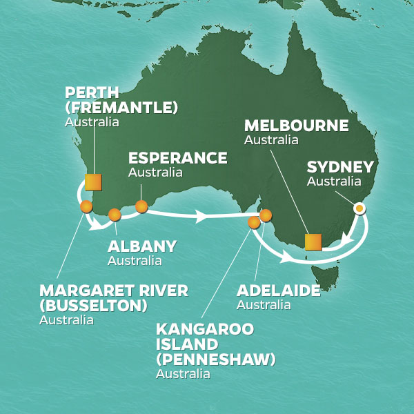 Australia voyage from Perth to Sydney