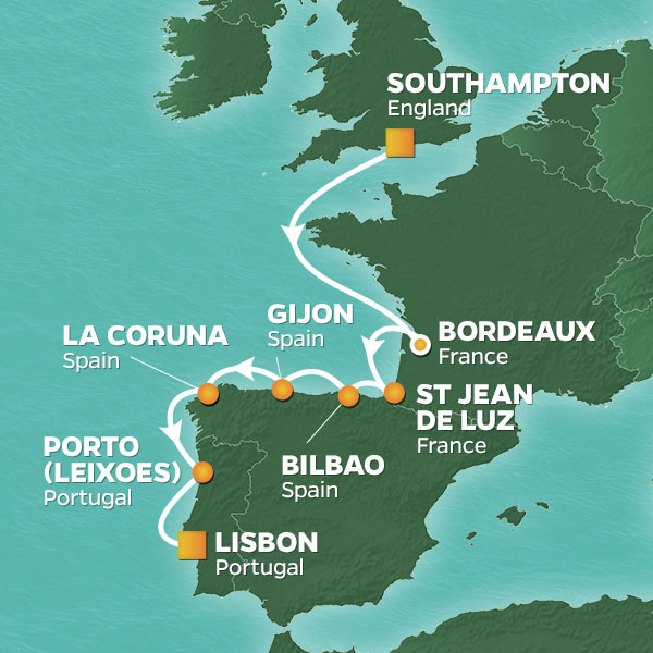 Gijon Spain Map.Gijon Spain Cruises Azamara Club Cruises